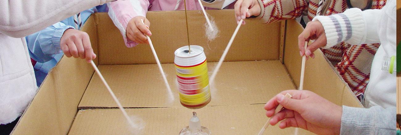 ペットボトルから繊維 リサイクル実験