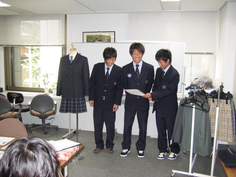 生徒たちの制服コーディネート
