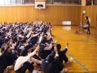 服でできるエコ/神戸市立太山寺中学校