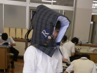 防災頭巾として