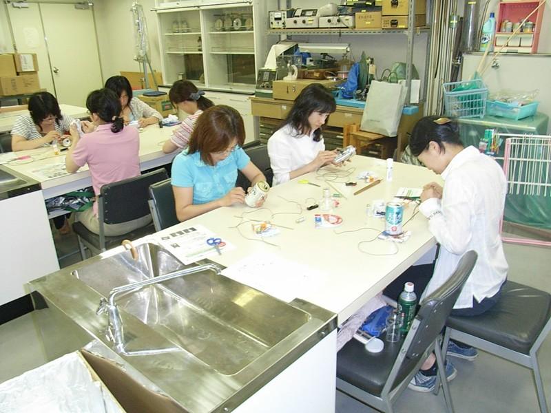 繊維リサイクル実験の体験