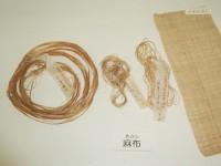 麻・・麻は人類が用いた最古の繊維(素材)といわれています